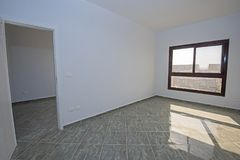 Interior design of an empty unfinished show home apartment. Interior decor design in luxury modern empty unfinished show home apartment Stock Photography