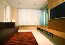 Interior design entertainment. Entertainment room with rotatable panel Stock Photos