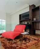 Interior design - family. Family area with red armchair Stock Photo