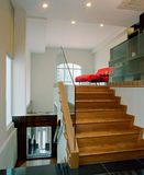 Interior design - family. Family area with timber staircase Stock Photo