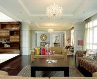 Interior design - family area. Living area and family area with foyer Stock Photo