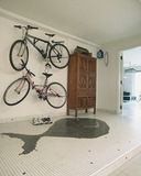 Interior design - foyer. Foyer area with two bicycles Stock Photos