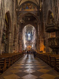 Interior design of Freiburg minster cathedral Royalty Free Stock Photos