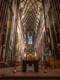Interior design of Freiburg minster cathedral Stock Photography