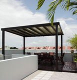 Interior design - gazebo. Gazebo on roof top with shelter Stock Images