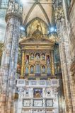Interior design of the gothic Cathedral of Milan, Italy Royalty Free Stock Photo