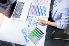 interior design or graphic designer renovation and technology co Royalty Free Stock Image