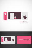 Interior design graphics. Stylized graphics related to interior design. Suitable for business logo Stock Photos
