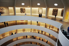 Interior design of Guggenheim Museum Royalty Free Stock Images