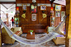 Interior design of Home Stay Ban Don Kai Dee Stock Photo