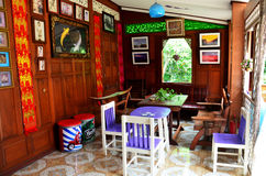Interior design of Home Stay Ban Don Kai Dee Royalty Free Stock Photos