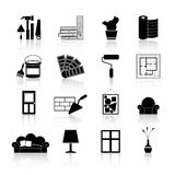 Interior Design Icons Black Stock Photos
