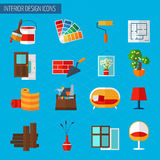Interior Design Icons Stock Photography