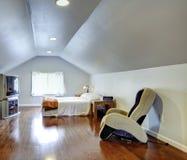 Interior design idea for low ceiling bedroom Stock Image
