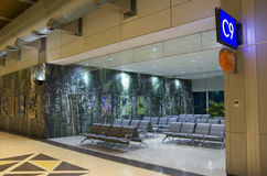 Interior design ideas - airport waiting room Royalty Free Stock Images