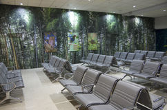 Interior design ideas - airport waiting room Royalty Free Stock Image