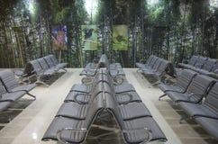 Interior design ideas - airport waiting room Stock Photo