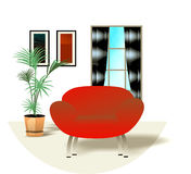Interior design illustration Stock Photography