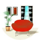 Interior design illustration stock photography