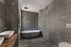 Interior Design: interior of bathroom Royalty Free Stock Photos