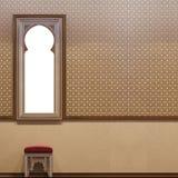 interior design islamico di stile dell'illustrazione 3d Fotografie Stock Libere da Diritti