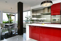 Interior design - kitchen royalty free stock photos