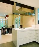 Interior design - kitchen. Dry kitchen and dining area Stock Images
