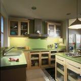 Interior design - kitchen. Dry kitchen with island unit Stock Image