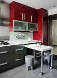 Interior design - kitchen stock image