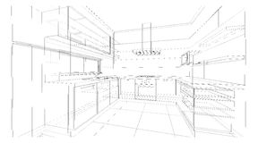 Interior design : kitchen Royalty Free Stock Photos