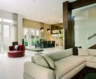 Interior design living. Living area and dining area Stock Photos