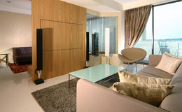 Interior design - living. Living area and entertainment room Royalty Free Stock Images