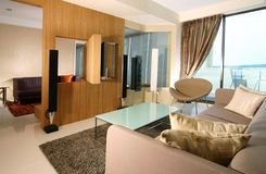 Interior design - living. Living area and entertainment room Stock Photo