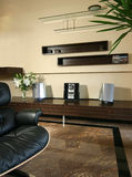Interior design - living. Livng area with tv console Royalty Free Stock Image