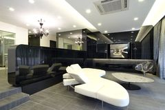 Interior design - living area. Living area and dining area Royalty Free Stock Images