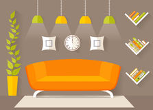 Interior design of the living room vector illustration