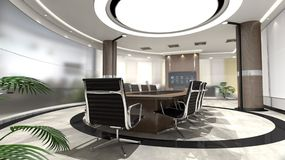 Interior Design, Lobby, Office, Conference Hall Royalty Free Stock Photo