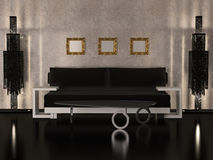 Interior design of Luxury living room royalty free illustration