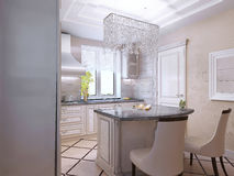 Interior design of a luxury modern kitchen Stock Photo