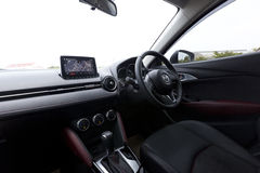 Interior design of Mazda CX-3 dashboard Stock Image
