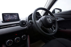 Interior design of Mazda CX-3 dashboard Stock Photo