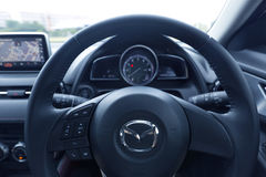 Interior design of Mazda CX-3 dashboard Stock Images