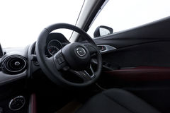 Interior design of Mazda CX-3 dashboard Stock Photos