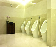 Interior Design of Men's Toilet Royalty Free Stock Photos