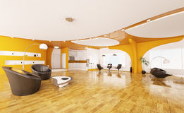 Interior design of modern apartment 3d render Stock Image