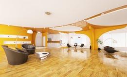 Interior design of modern apartment 3d render Stock Image
