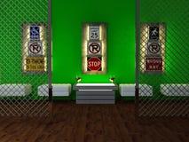 Interior design of modern bar Stock Photos