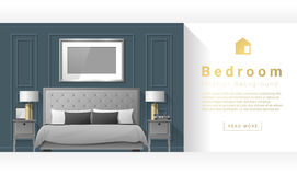 Interior design Modern bedroom background stock illustration