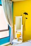 Interior Design: Modern Bedroom, Bedside cabinet. Stock Photography
