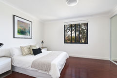Interior Design: Modern Bedroom Stock Image